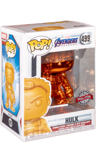 Marvel: Avengers Endgame – Hulk (Orange Chrome) #499 Special Edition